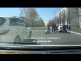 ЭКСКЛЮЗИВ: видео момента удара водителя на ул. Студенческая