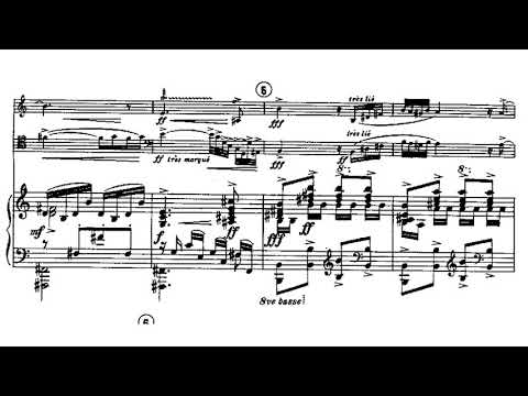 Francis Poulenc: Trio for Oboe, Bassoon and Piano, FP 43 (Score Video)