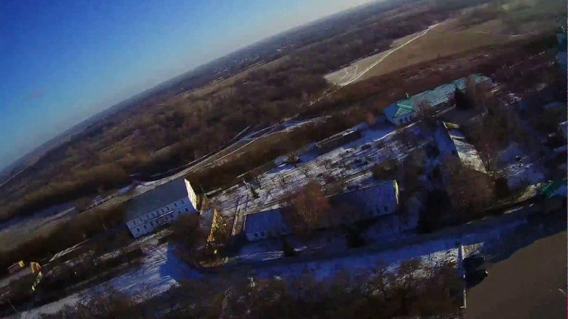 Hubsan H501ss. Мгарский монастырь. 15.01.2018 г.