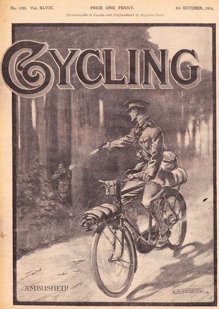 """Обложка журнала """"Cycling"""" 1914 года"""