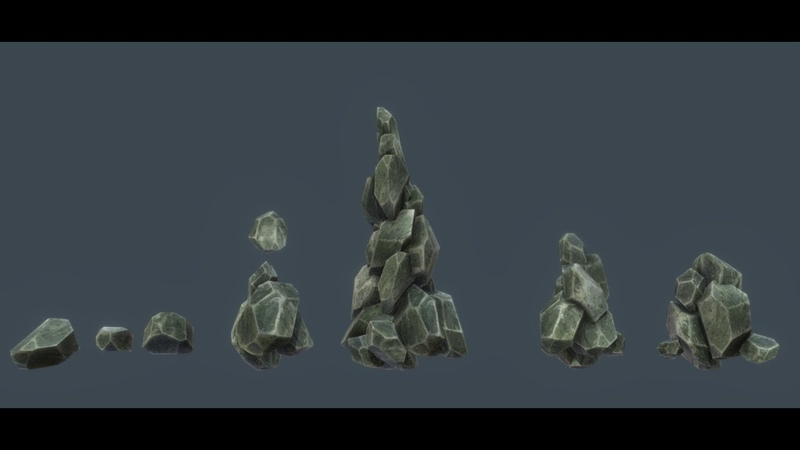 TEXTURE How to Modelling Low Poly Game Asset Rock 3D Coat