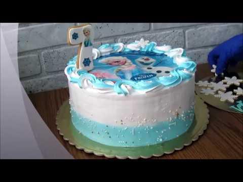 Как выровнять торт белково заварным кремом