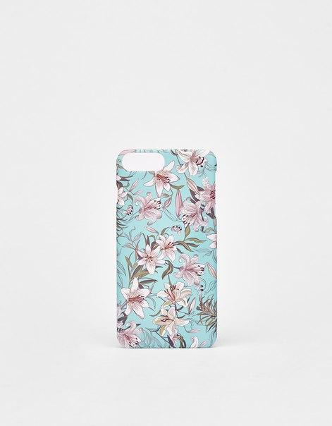 Чехол с цветочным узором для iPhone 6plus/7plus/8plus