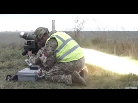 British Army Fires ANTI-TANK MISSILES