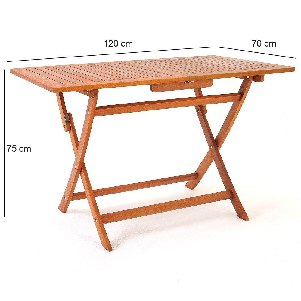 Mesa cuatro sillas de madera acacia para jardin balcon for Mesas y sillas para patios
