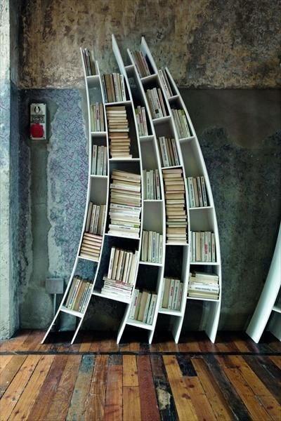 Полки для книг, идеи, дизайн.