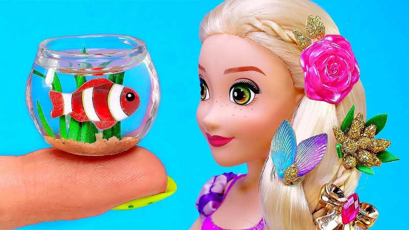 19 NEW BARBIE HACKS AND CRAFTS AT 5 MINUTES 〜 Aquarium Hairpins Dress and more