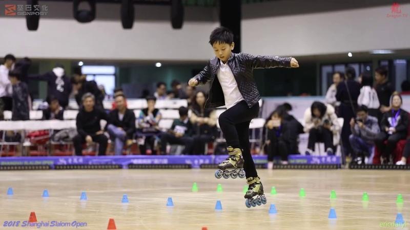 2018 SSO 上海轮滑公开赛 Junior Male Classic Slalom,5th,吴双 上海极速轮滑 AGF