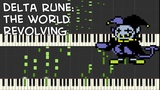 Delta Rune - THE WORLD REVOLVING (Jevil's Theme) Piano Duet Synthesia