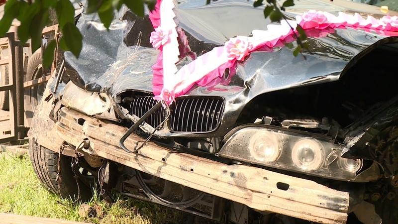 В Пензе машина из свадебного кортежа попала в ДТП