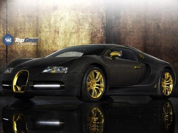 """Mansory Bugatti Veyron """"Linea Vincero D'Oro"""" 8.0L W16 Мощность: 1109 л.с. Крутящий момент: 1310 Нм Привод: Полный Разгон до сотни: 2.5 сек Максимальная скорость: 407 км/ч Масса: 1880 кг Произведён в единственном экземпляре"""
