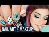 St Patricks Day Peel Off Nail Art + Glitter Cut Crease Eye Makeup Tutorial KELLI MARISSA