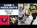Washington Capitals vs Pittsburgh Penguins – May. 03, 2018 Game 4