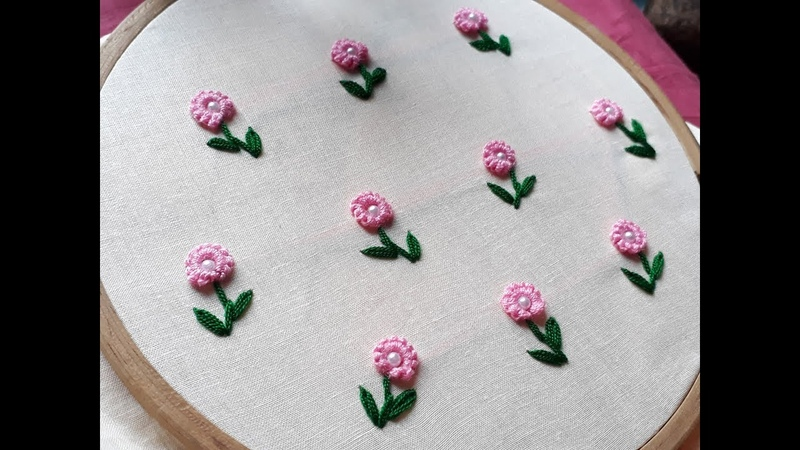 Hand Embroidery All over embroidery design | All over design for dresses