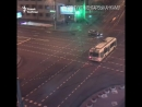 Відэа аварыі на вуліцы Сурганава і праспэкце Незалежнасьці