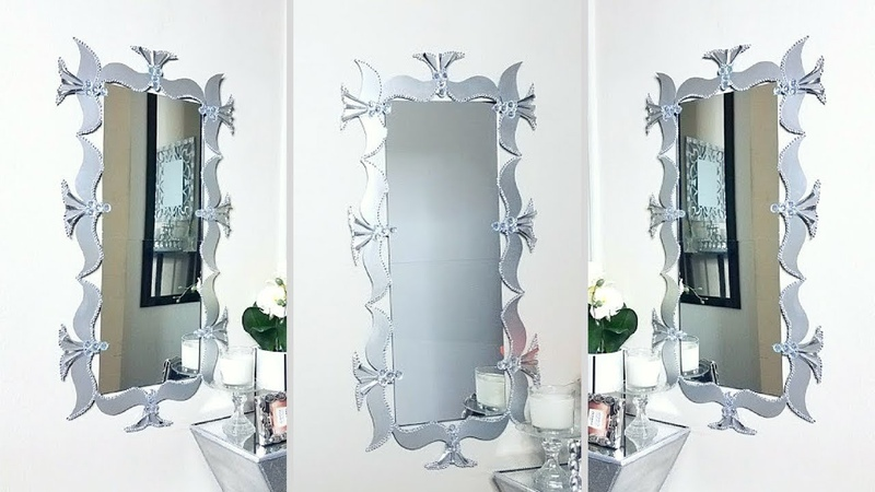 Using Cereal Boxes to Make a Unique Wall Mirror Decor