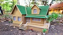 Building Cardboard Mansion House - DIY Popsicle Stick House