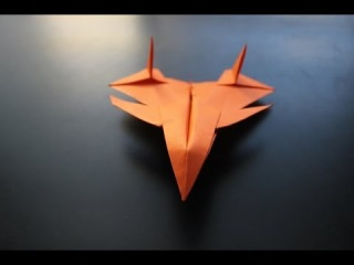 How to Make a F-15 Compact Fighter Origami Paper Plane: instruction