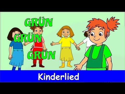 Grün, grün, grün sind alle meine Kleider | Kinderlieder zum Mitsingen | Sing mit YleeKids