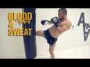 Джабар Аскеров комбинация с ударом колена и тренировка ног