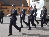 Смена караула в Стокгольме у королевского дворца