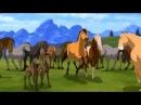 Далеко,далеко,ускакала в поле молодая лошадь
