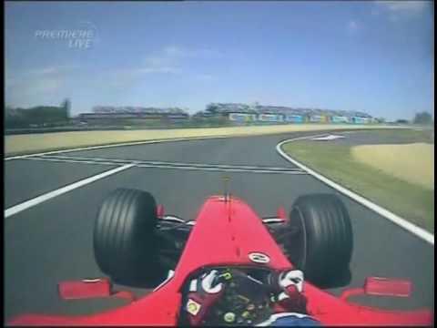 [F1 Onboard] Barrichello overtake Trulli in last corner France 2004