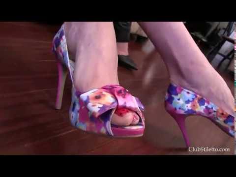 Triple domme shoe pov