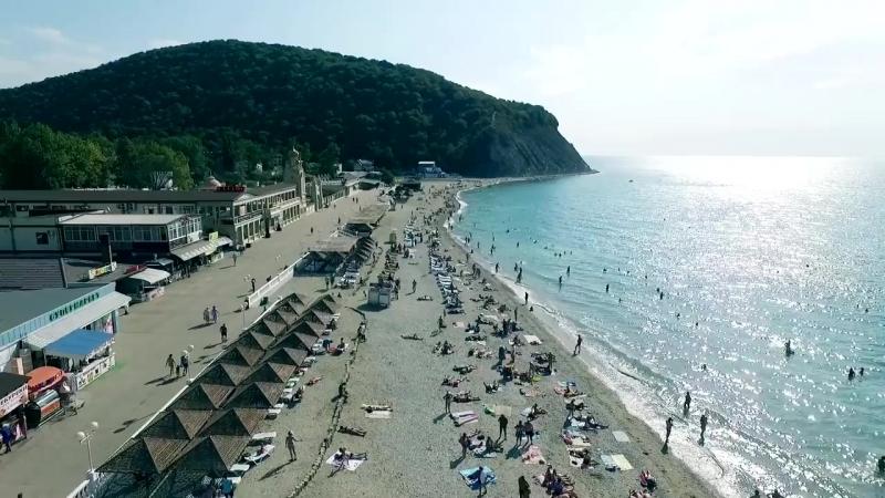 Архипо-Осиповка. Отдых на берегу Чёрного моря. Аэросъёмка.