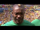 RESPECT !! Serey Die Crying  because His father died 2 hours before the game vs Colombia 2014