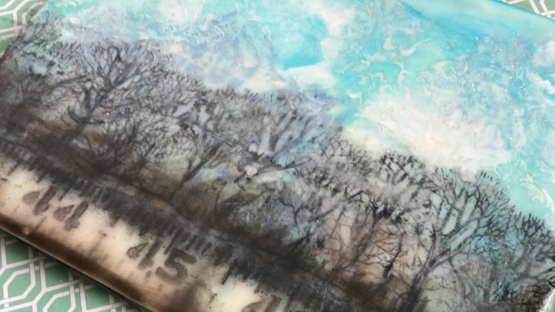 A Forest on Tissue Paper in Encaustic 2.17.17