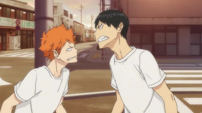 Момент из аниме Волейбол!! / Haikyuu!! (2 сезон 1 серия) - [AniDub]