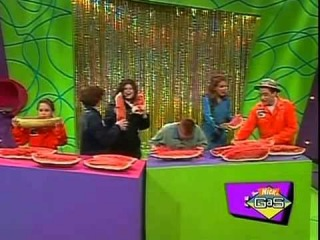 Fat kid ANNIHILATES watermelon on Nickelodeon's Figure It Out