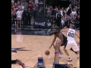 manu ginobili's incredible block saves the spurs Game 5 victory!