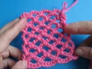 Вязание крючком - Сеточка из воздушных петель ( Урок 26 )
