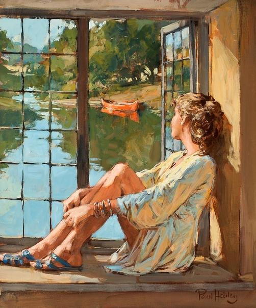 Приятные иллюстрации. Девушки в исполнении Пола Хедли. (1947-)
