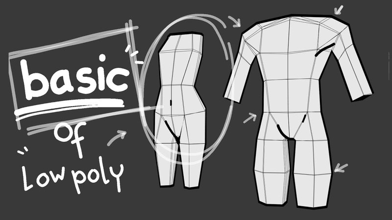 Basic low poly character creation easy step