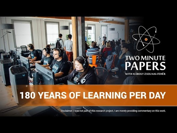 OpenAI DOTA2: 180 Years of Learning Per Day | Two Minute Papers 266