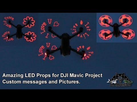 DJI Mavic Pro Programmable rechargeable LED Flash Propellers