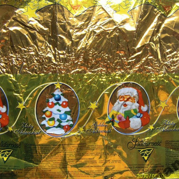 этикетка от конфеты «Advocat» (новогодняя)