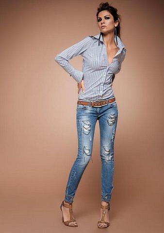 Модные брюки галифе женские и юбку из джинсов.