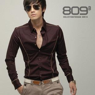 Мужская Мода Рубашки