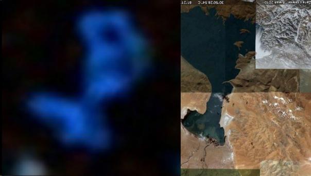 Гигантские корабли пришельцев и озеро напоминающее корабль X_b34ecdda