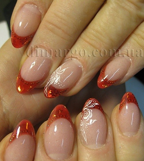 дизайн ногтей цветной френч фото: