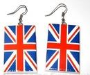 серьги + с британским флагом.