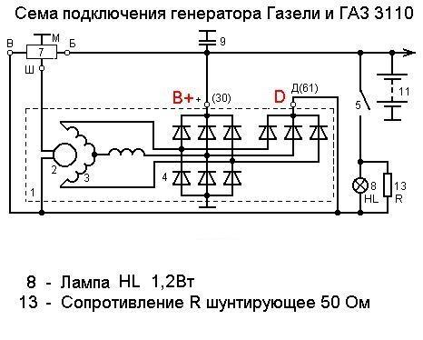 Генератор 90А со встроенным РН
