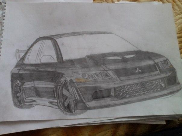 Картинки машин нарисованы ручкой