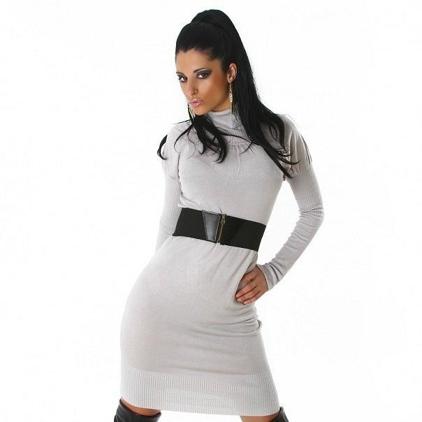 Очень красивое и сексуальное трикотажное платье с поясом.