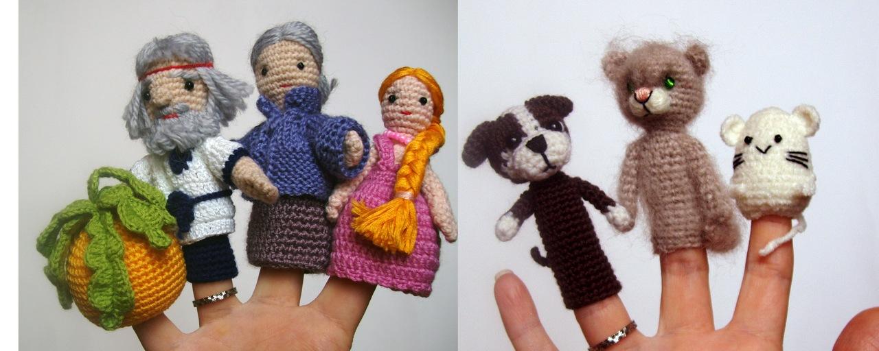 Вязание кукольного театра спицами