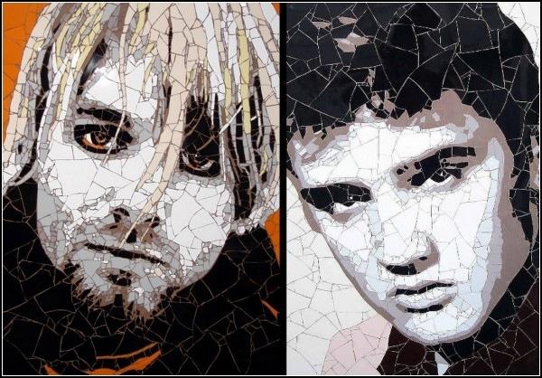 Портреты из кусочков плитки. Мозаичное творчество Эда Чапмена (Ed Chapman)